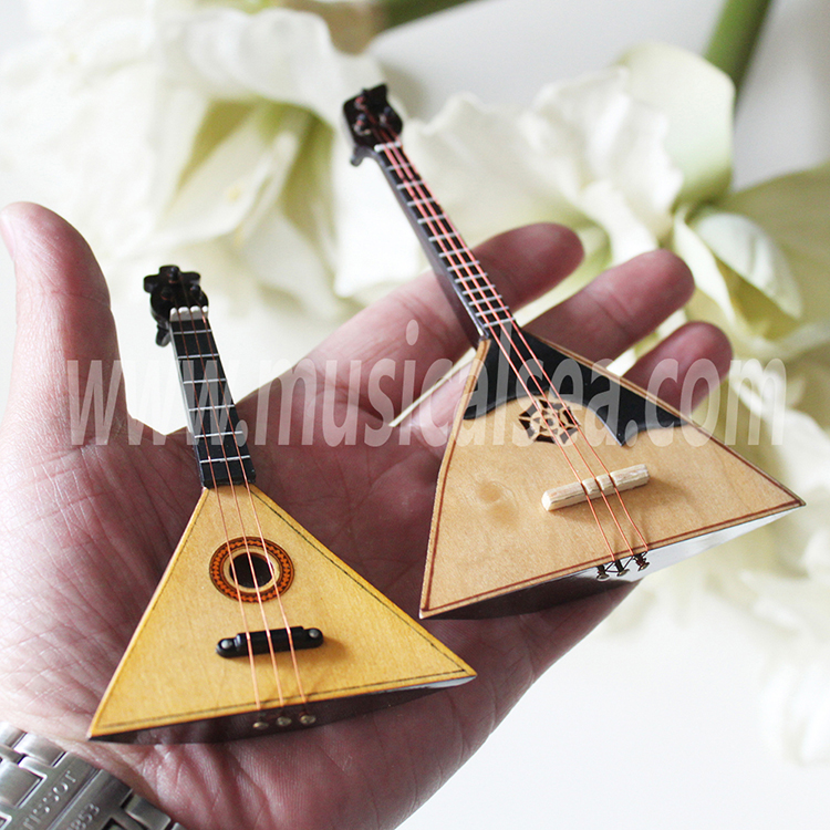 Mini balalaika Russian home decor Russian bal