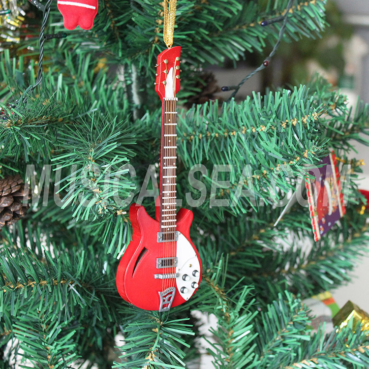 Miniature Electric Guitar Christmas Tree Ornament