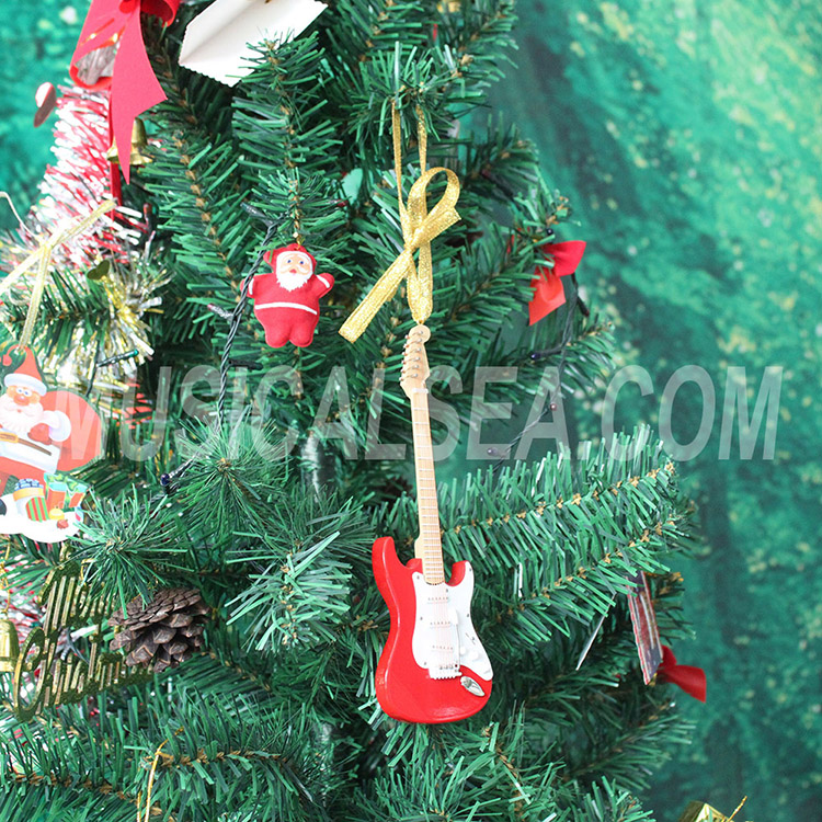 wholesale miniature electric guitar christmas decoration gift wooden christmas tree ornament wholesale christmas decoration wholesale xmas ornament - Wooden Christmas Decorations Wholesale