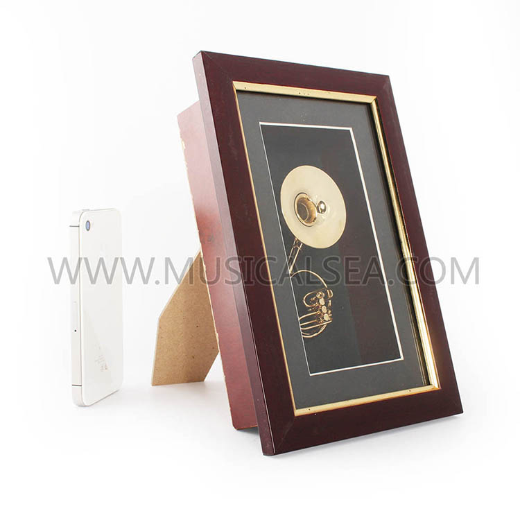 Metal miniature sousaphone decorative frame