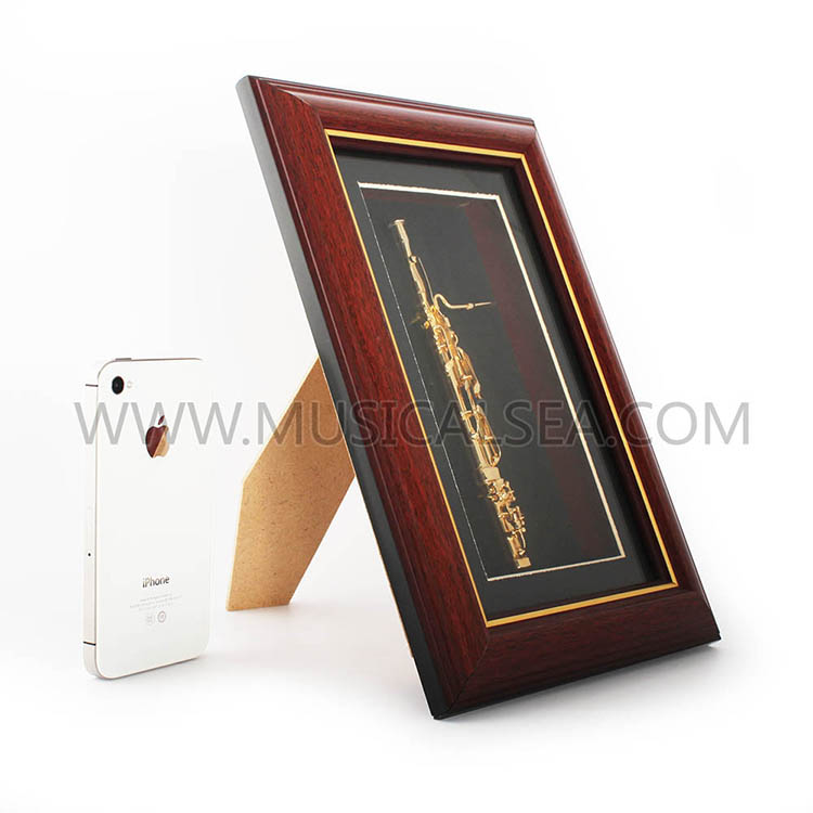 Miniature bassoon decorative photo frame pict