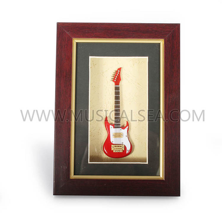 wholesale photo frame with mini electric guitar miniature musical instruments gift are the. Black Bedroom Furniture Sets. Home Design Ideas