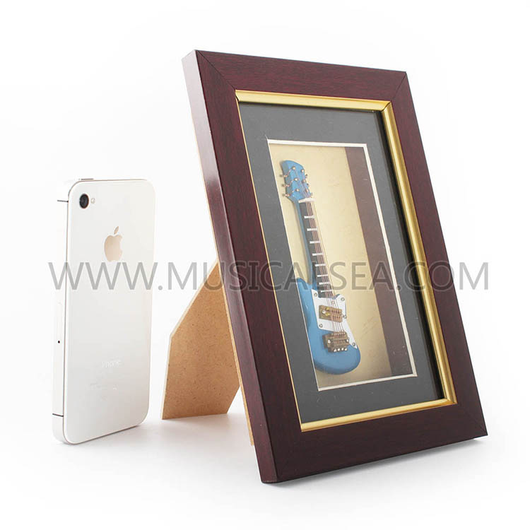 Decorative photo frame with guitar wooden pho