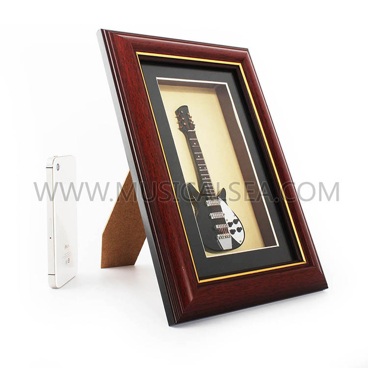Mini guitar wall decoration frame and decorat