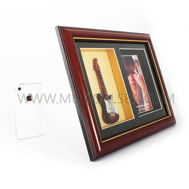 Decorative photo frame with guitar and pictur