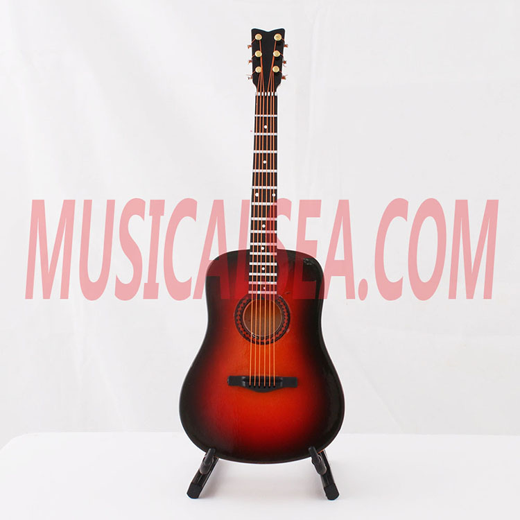 Miniature guitar christmas decoration supplie