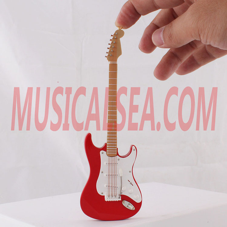 Mini guitar toy mini musical instrument woode