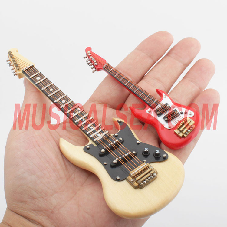 Miniature electric guitar ornament craft for