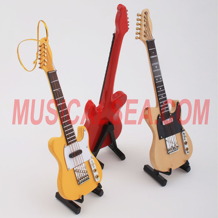 Miniature guitar handmade craft for christmas