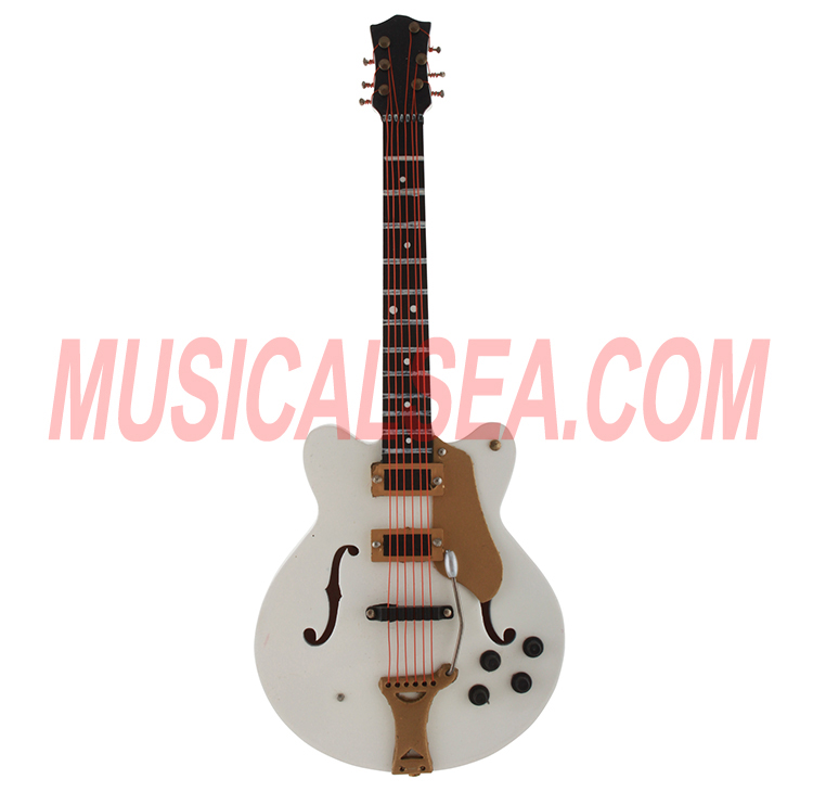 Miniature guitar christmas ornament for promo