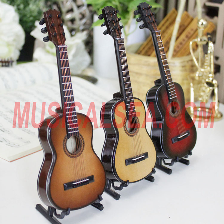 Miniature Wooden guitar ornament for promotio