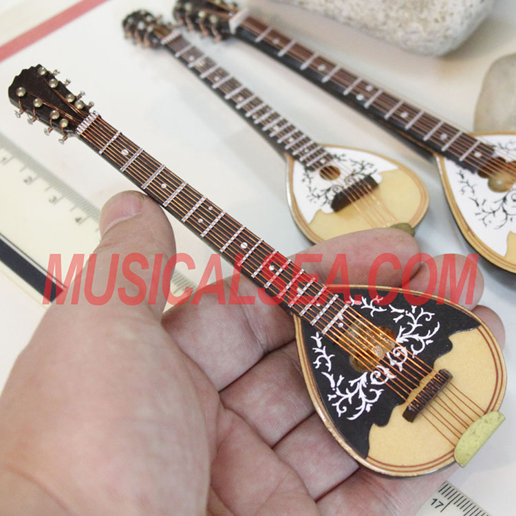 Miniature Wooden Mandolin model replica toy