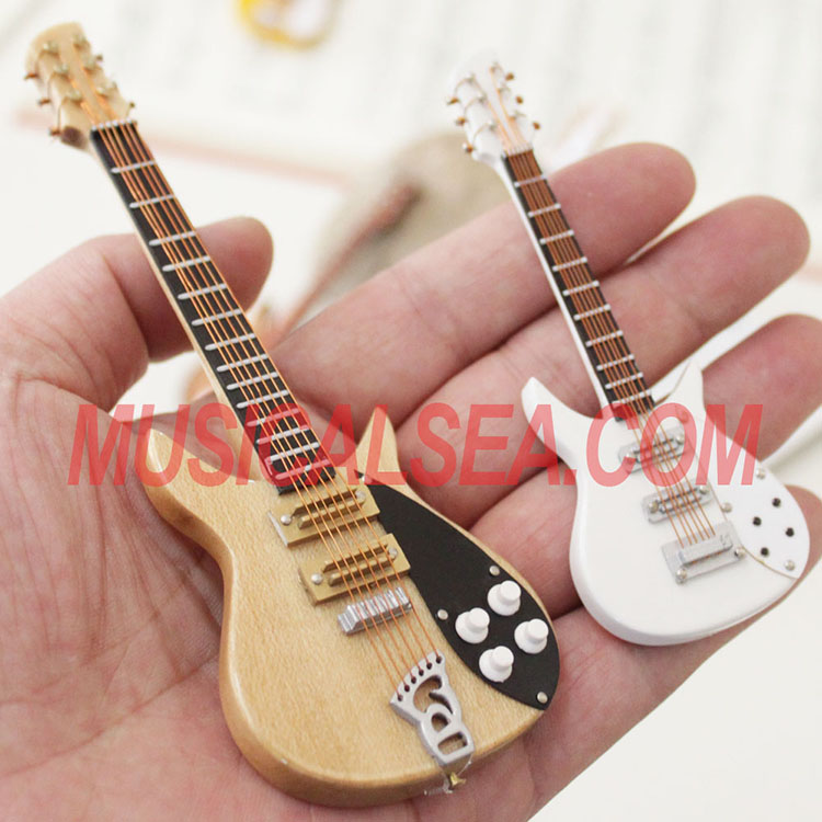 Miniature handmade electric guitar crafts