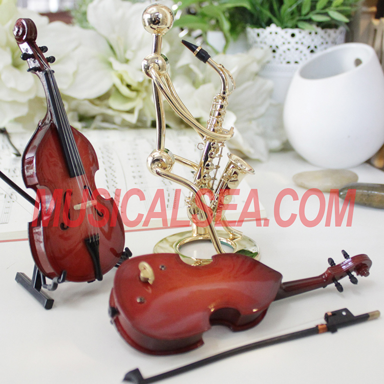 violin shape music box
