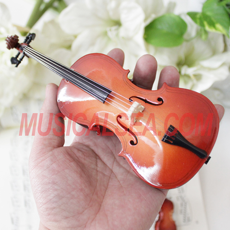 Handmade Miniature violin for holiday gifts