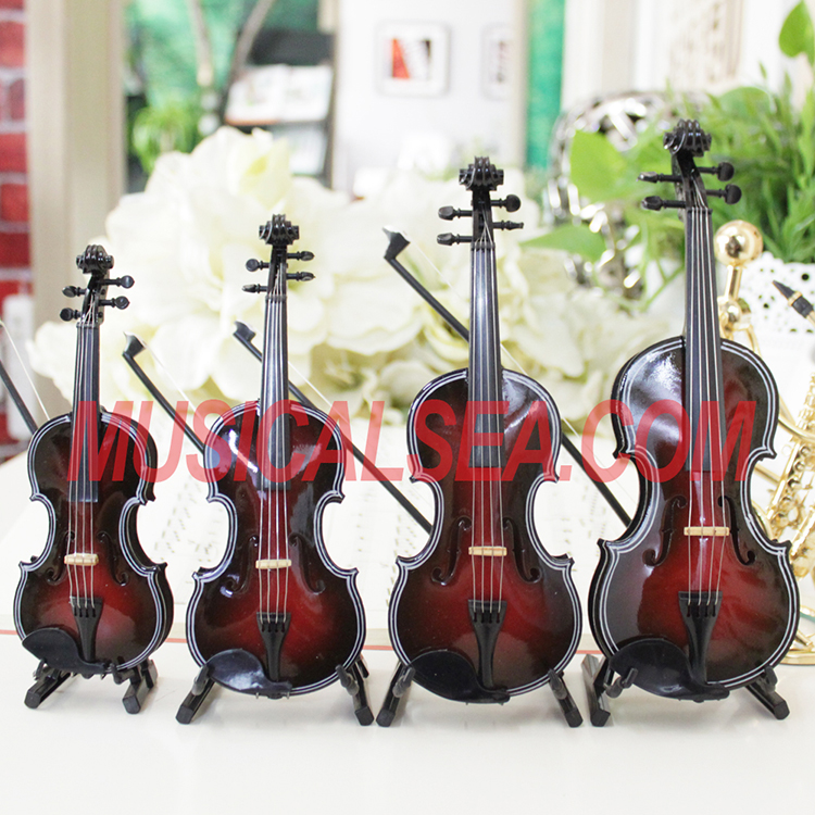 High Quality Miniature wooden violin for prom