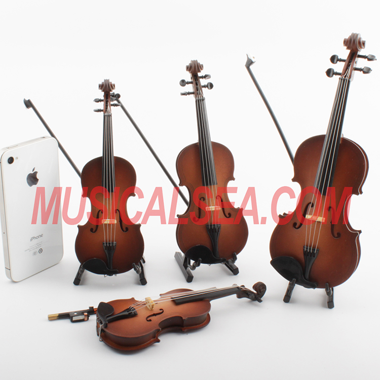 Miniature violin mini cello toy christmas ornament craft_Miniature ...
