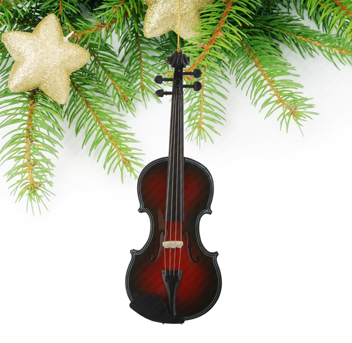 ... miniature violin can be processed into christmas tree ornament.  Miniature guitar - Miniature Black And Red Violin Christmas Tree Decoration_Miniature