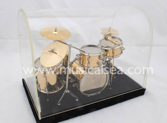 Miniature 5pcs Golden drums per set