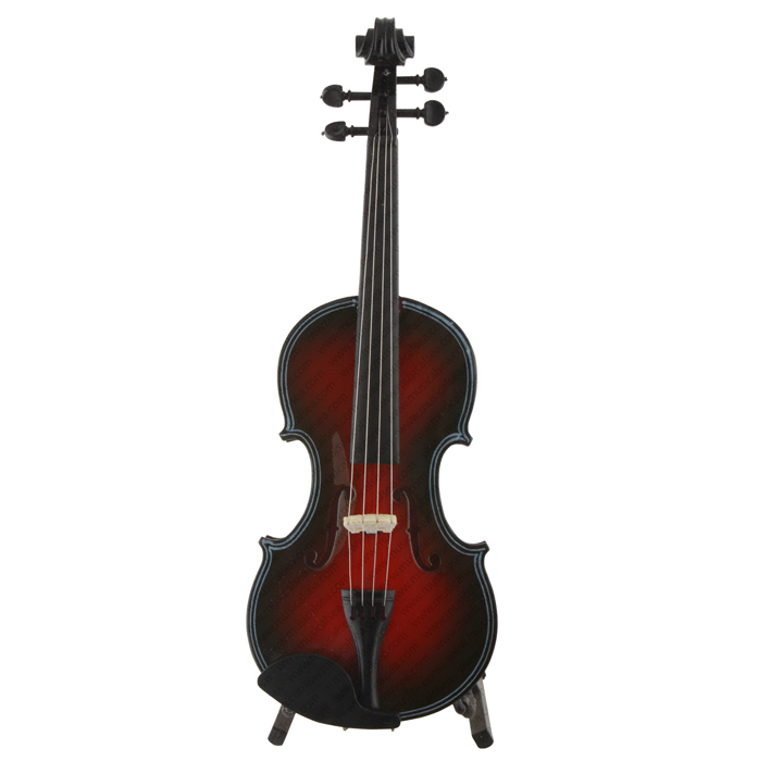 Miniature Black&Red Violin