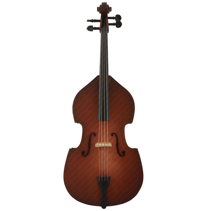Miniature brown violin toy